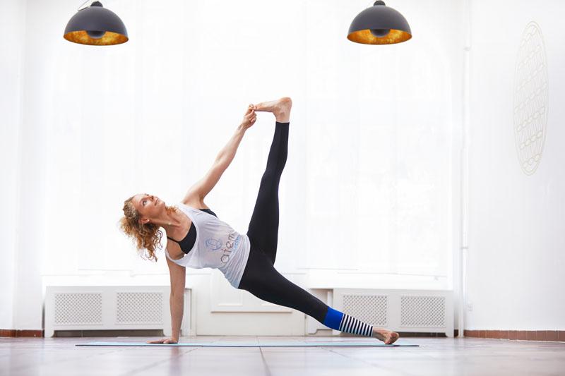 Yogalehrerin Anja Mester